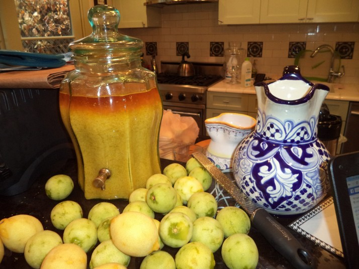 limoncello in the making
