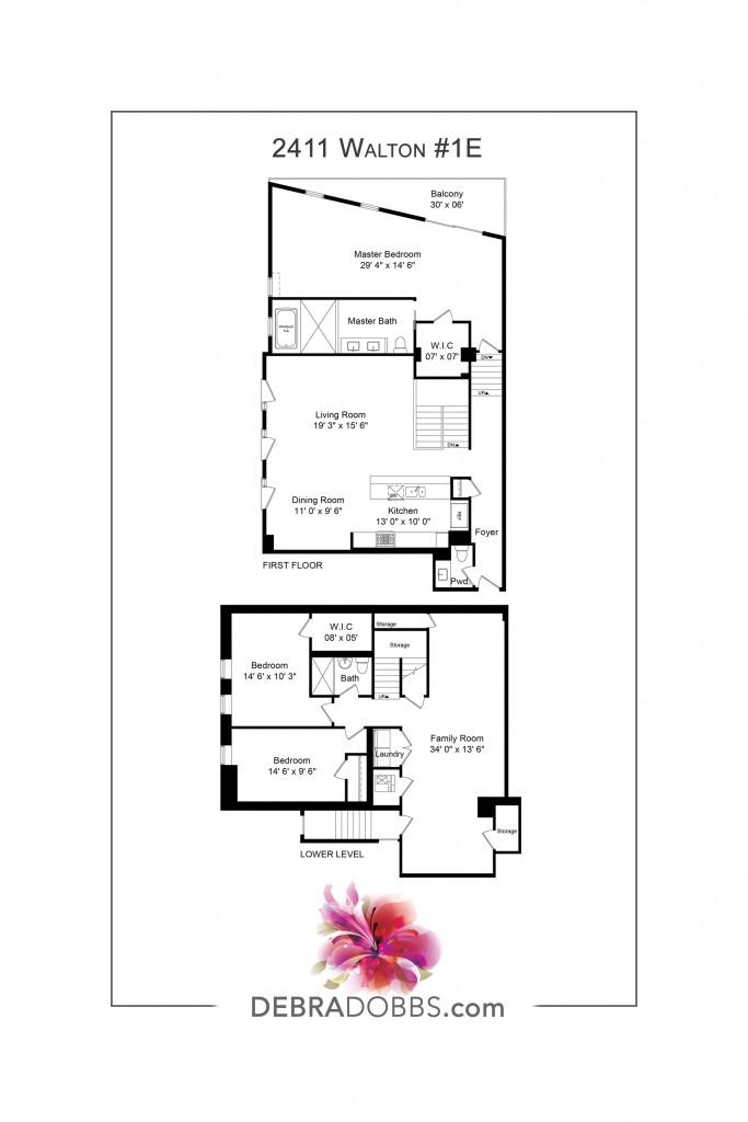 Floorplan 2411 Walton 1E