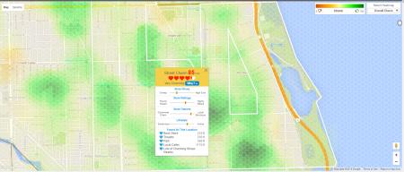 Chicago neighborhood map Charm Indicator