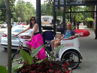 Debra on Bike Cab_2